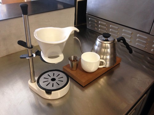Kettle, V60 cone