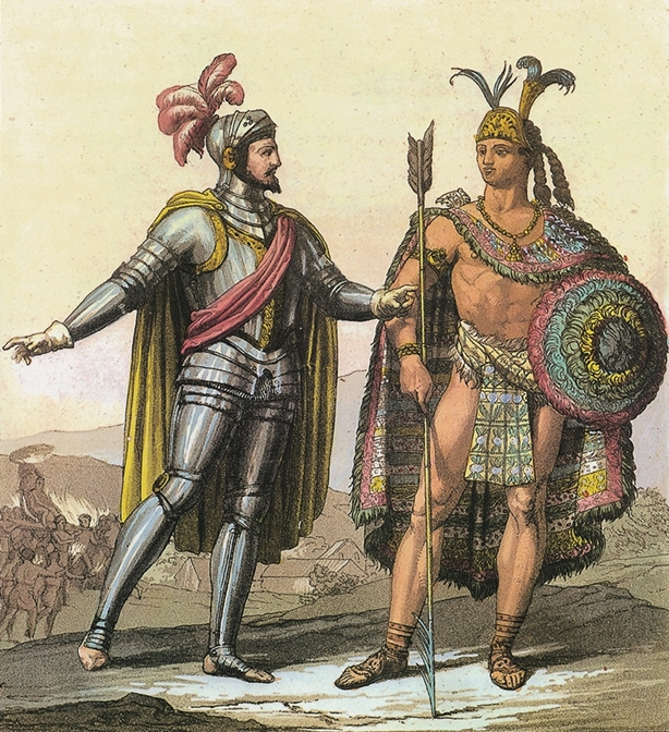 Moctezuma and Cortes