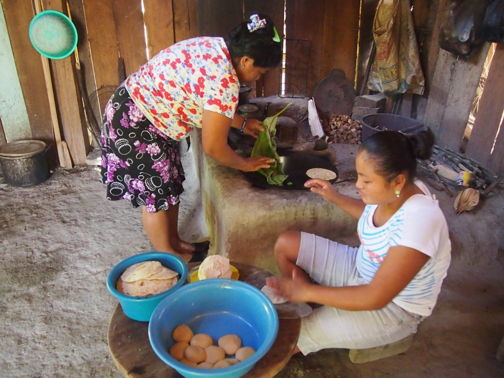Making tortillas during my homestay with Victor Cho's family.
