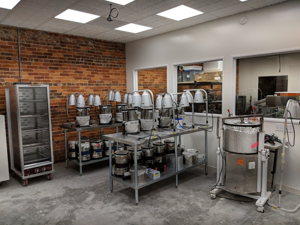 inside the kitchen of Areté Chocoate
